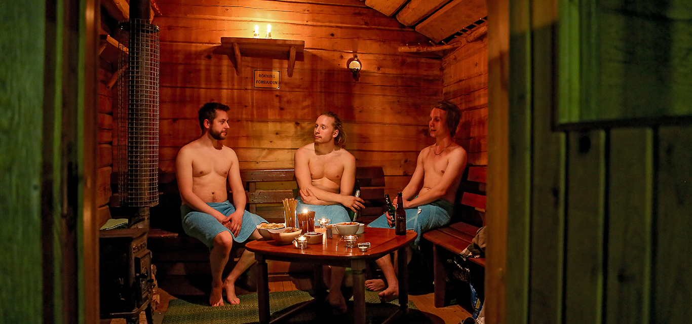 The wood fired sauna
